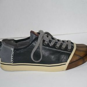 SOREL SENTRY Handcrafted Leather Sneakers Grey
